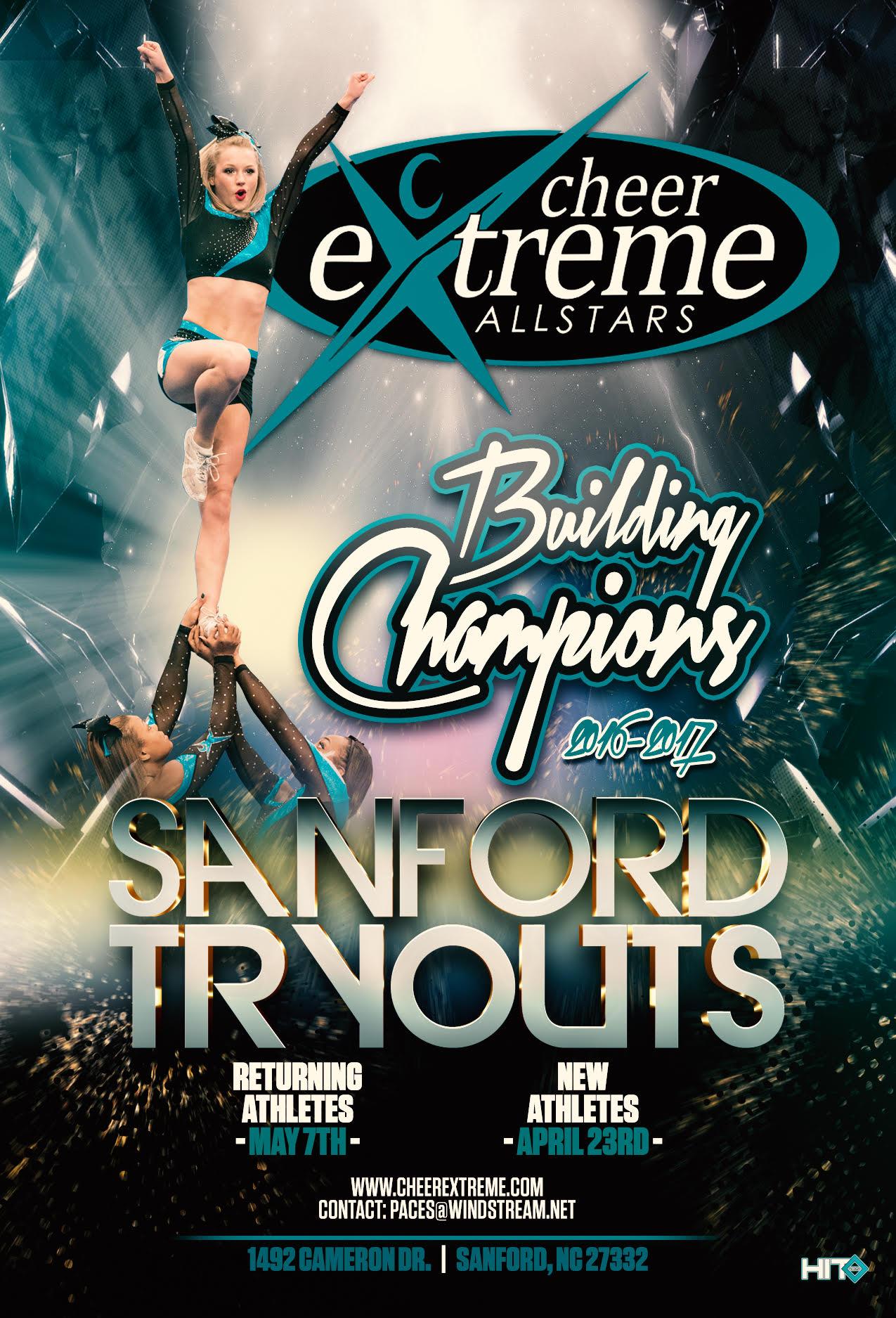 Sanford Tryout Flyer